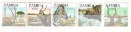 Zambia 2007 Animals Of Zambia - The Second SAPOA Joint Issue 5 V. Mint ** - Zambia (1965-...)