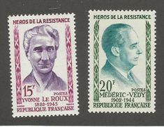 FRANCE - N°YT 1199/200 NEUFS** SANS CHARNIERE - COTE YT : 1.50€ - 1959 - France