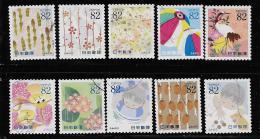 JAPAN, 2015, SCOTT USED,   #3850-9,  LETTER WRITTING DAY  USED - 1989-... Empereur Akihito (Ere Heisei)
