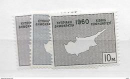 1960 MNH Cyprus, Postfris ** - Zypern (Republik)