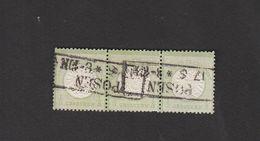Deutschland  Deutsches Reich Gestempelt 17a Brustschild Groß 3er Einheit   Katalog 150,00 - Oblitérés