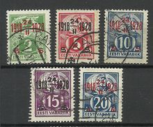 Estland Estonia 1928 Anniversary Michel 68 - 72 O - Estland