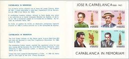 Cuba Carnet 2409/2412 ** MNH. 1982 Ajedrez - Nuovi