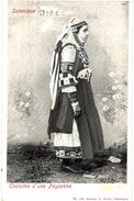 CPA N°11599 - SALONIQUE - COSTUME D' UNE PAYSANNE + COSTUME D' EPIRE - COSTUMES ET COIFFES - FOLKLORE - Greece
