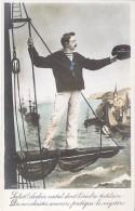 FANTAISIE MARINS ( Fantaisie ) Salut Clocher Natal ... - CPA - Sailors Segler Zeelieden Marineros Marinai - Other