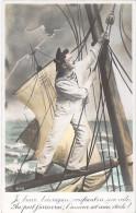 FANTAISIE MARINS ( Fantaisie ) Je Brave L'Ouragan Confiant En Ma Voile ... - CPA - Sailors Segler Zeelieden Marineros - Other
