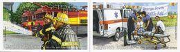 CAYMAN ISLANDS, 2012 Booklet 33/34, Emergency Services (fire Brigade, Ambulance) - Kaimaninseln