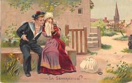 FANTAISIE MARINS ( Lot De 2 ) La Séparation & Rentrée Au Village- CPA Illustration - Sailors Segler Zeelieden Marine - Other