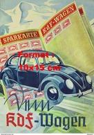 Reproduction D'une Photographie D'une Affiche Sparkarte KdF-Wagen VW - Riproduzioni