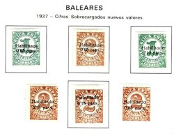 SPAIN, Baleares, Yv 590/93, * MLH, F/VF - Nationalist Issues