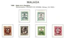 SPAIN, Malaga, Gv 40a/45c, 45T, * MLH, F/VF - Emissions Nationalistes