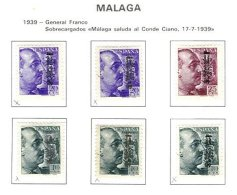 SPAIN, Malaga, Yv 675B/G, * MLH, F/VF - Nationalist Issues