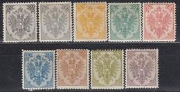 ÖSTERREICH Bosnien&Herzegowina 1894 - MiNr: 1 - 9 II Neudruck Komplett   * /MLH - Oriente Austriaco