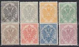 ÖSTERREICH Bosnien&Herzegowina 1900 - MiNr: 10 - 20  Lot 8x   * /MLH - Oriente Austriaco