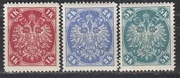 ÖSTERREICH Bosnien&Herzegowina 1901 - MiNr: 21 - 23  Komplett   ** /MNH - Oriente Austriaco
