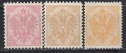 ÖSTERREICH Bosnien&Herzegowina 1911 - MiNr: 16+18+19  Neudruck Komplett   * /MLH - Oriente Austriaco