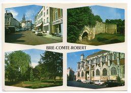 BRIE COMTE ROBERT--Multivues (rue Avec Voitures Simca,Citroen)-Divers Aspects De La Ville--cachet EVRY-77.......à Saisir - Brie Comte Robert