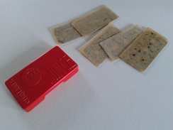 Boite Plastique Avec 5 Lames De Rasoir Françaises GIBBS - Five Razor Blades GIBBS In A Plastic Box - Lames De Rasoir