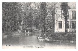 7816 Ruesnes L'étang Du Parc Barques Photo Delsart Bon état 1913 Cachet Ellezelles - Autres Communes