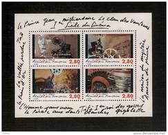 France, Bloc Feuillet N° 17, BF 17, BF17, 2919/2922, Bloc Neuf **, TTB, 1er Siècle Du Cinéma - Blocs & Feuillets
