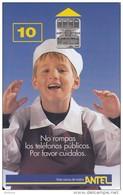 URUGUAY - Little Boy(17a), Chip SC7, 09/98, Used - Uruguay