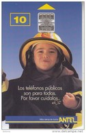 URUGUAY - Little Fireman(16a), Chip SC7, 09/98, Used - Uruguay