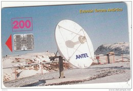 URUGUAY - Antel Earth Station/Antarctic(10a), Tirage 80000, 04/98, Used - Uruguay