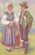 Postcard Slovenian National Costume   My Ref B22002 - Slovenia