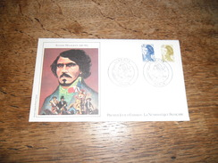 Enveloppe Premier Jour D'émission, Eugène Delacroix 1798-1863, 3 Septembre 1982, Dessin Original Denis Cojean - Altri