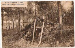 Les Ardennes - Cabane Rustique D'un Ardennais Indépendant - Dans Le Bois - Photo Belge Lumière, Boitsfort - Brux. - Cartes Postales