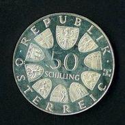 AUSTRIA YEAR 1972 -   UNCIRCULATED - SILVER -  50 SCELLINI - 50 SCH  OSSIDO NATURALE NON PULITA - UNIVERSITA' SALISBURGO - Autriche