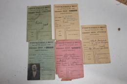 Lot De Licences De Club De Pétanque D'Algérie 1948-1952 - Pétanque