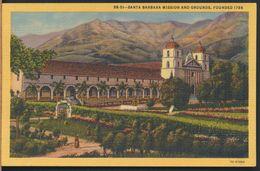 °°° 9343 - USA - CA - SANTA BARBARA MISSION AND GROUNDS °°° - Santa Barbara