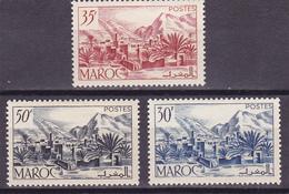 Maroc N° 292.293 & 305 Neufs * - Voir Verso & Descriptif - - Maroc (1891-1956)