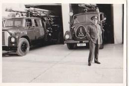 Photo De  Camions De Pompiers Fireman En Grèce  (GRECE) - Automobiles