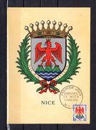 """"""" NICE """" Sur Carte Maximum De 1958. N° YT 1184. Voir Les 2 Scans. CM - 1950-59"""