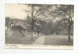 Cp , 76 , TOCQUEVILLE EN CAUX , Villa Normande , écrite - Autres Communes
