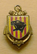 INSIGNE 24° RIMA REGIMENT INFANTERIE DE MARINE - Armée De Terre