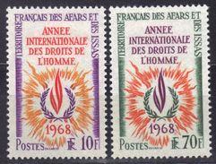 Afars Et Issas N°341 - 342 * Droits De L'Homme à 15% De La Cote - Afar- Und Issa-Territorium (1967-1977)