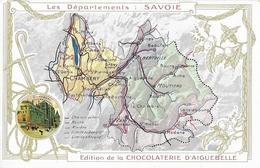 Les Départements: Savoie - Château De Chambéry En Médaillon - Edition De La Chocolaterie D'Aiguebelle - Aiguebelle