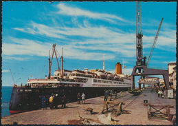 Ansichtskarte Foto Bremerhaven Schiff Columbuskaje Und TS Bremen Nach Hamburg - Deutschland
