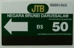 BRUNEI -  Autelca - D3 - Type 1 - With No Bar - $50 - Used - Rare - Brunei