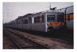 PHOTO Originale Train Wagon Engin De Traction Loc Loco Train De Banlieue Gris SNCF N°6158 Non Datée - Trains
