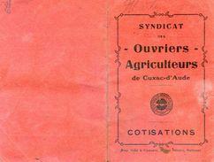 Lot De 2 Cartes D'un Syndicat Des Ouvriers Agricole De Cuxac D'Aude - Pointage Du Paiement Des Cotisations - Zonder Classificatie