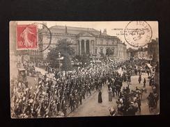 LIMOGES - CONCOUR DE PECHE Du 30 Juin 1907 - Le Défilé, Place D'Aine - Limoges