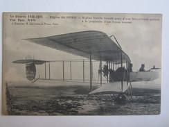Avion Aviation  Militaria Guerre 1914 1915 Région Du Nord Biplan Voisin Blindé Armé D'une Mitrailleuse Oblitération - Unclassified