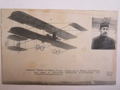 Avion Aviation Lieutenant Féquant Sur Biplan Farman Semaine Aviation Bordeaux Mérignac - Flugzeuge
