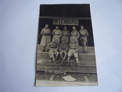 MILITARIA OFFENBURG GARE 170 RÉGIMENT INFANTERIE SOLDATS FRANÇAIS CARTE PHOTO 1923 OCCUPATION ALLEMAGNE BADE-WURTEMBERG - Régiments