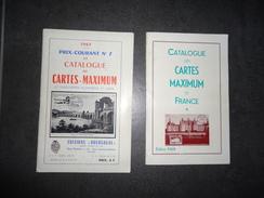 2 CATALOGUES DES CARTES MAXIMUM DE FRANCE  1967/68 VOIR PHOTO - Frankrijk