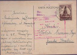 ENTIER 1944- CROIX ROUGE -KRAKOWSKI - 1939-44: World War Two